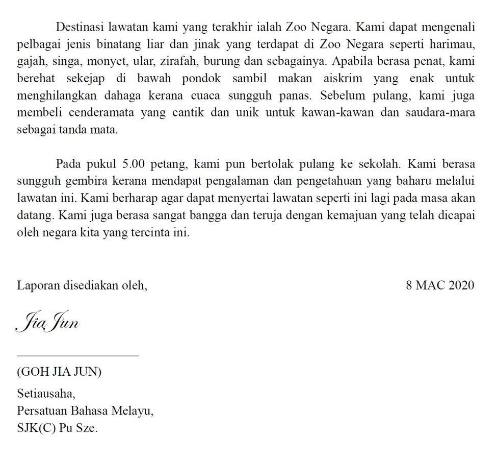 Karangan Laporan Lawatan Sambil Belajar Ke Kuala Lumpur Karangan Contoh Cikgugoh